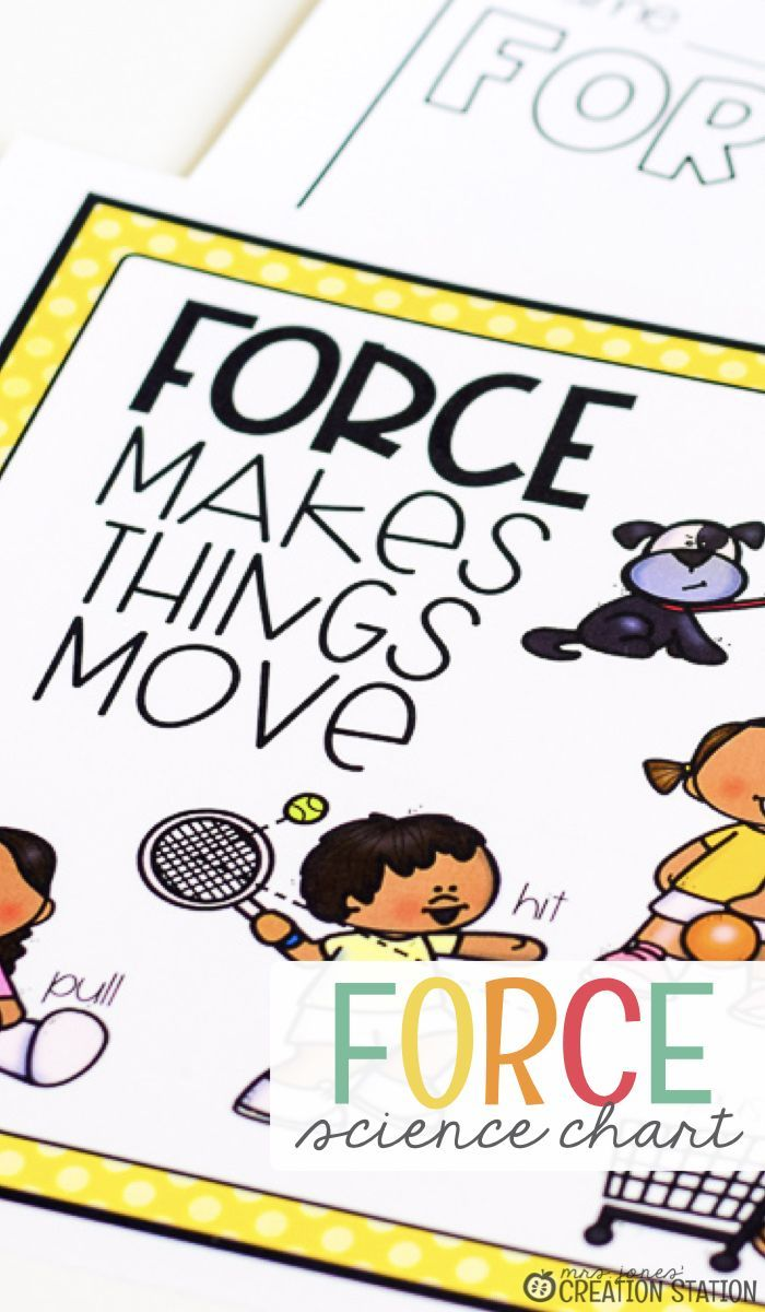 Force and Motion  Teach your little learners about force and motion today! Your students will enjoy