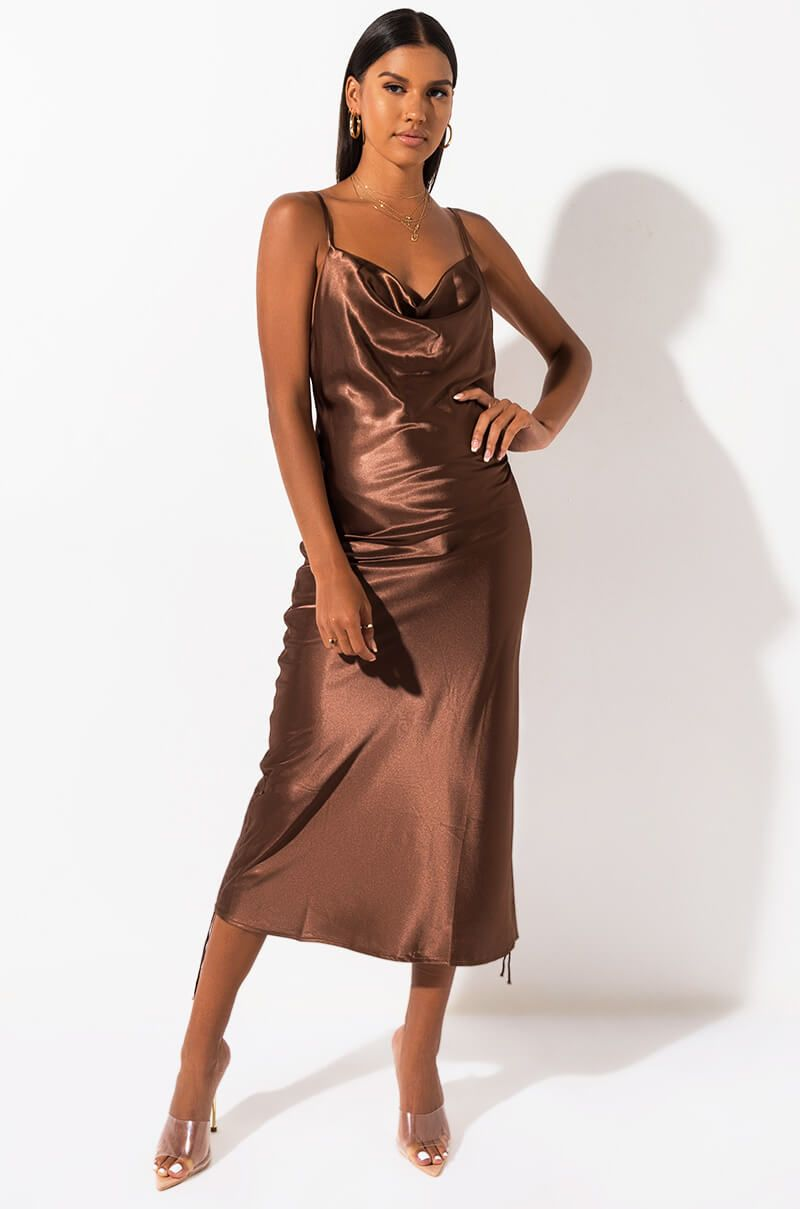 42+ Brown slip dress info