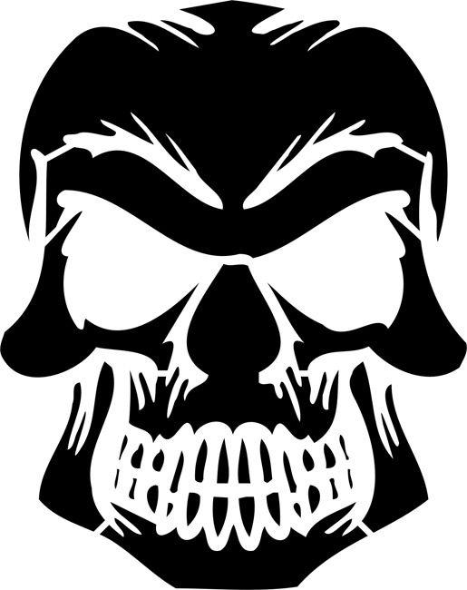 Stencil buscar con google stencil pinterest skull for Free skull pumpkin carving patterns