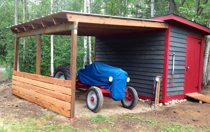 Lean To Roof With A Shed Upgrade For My 1950 Tractor, Alaska.