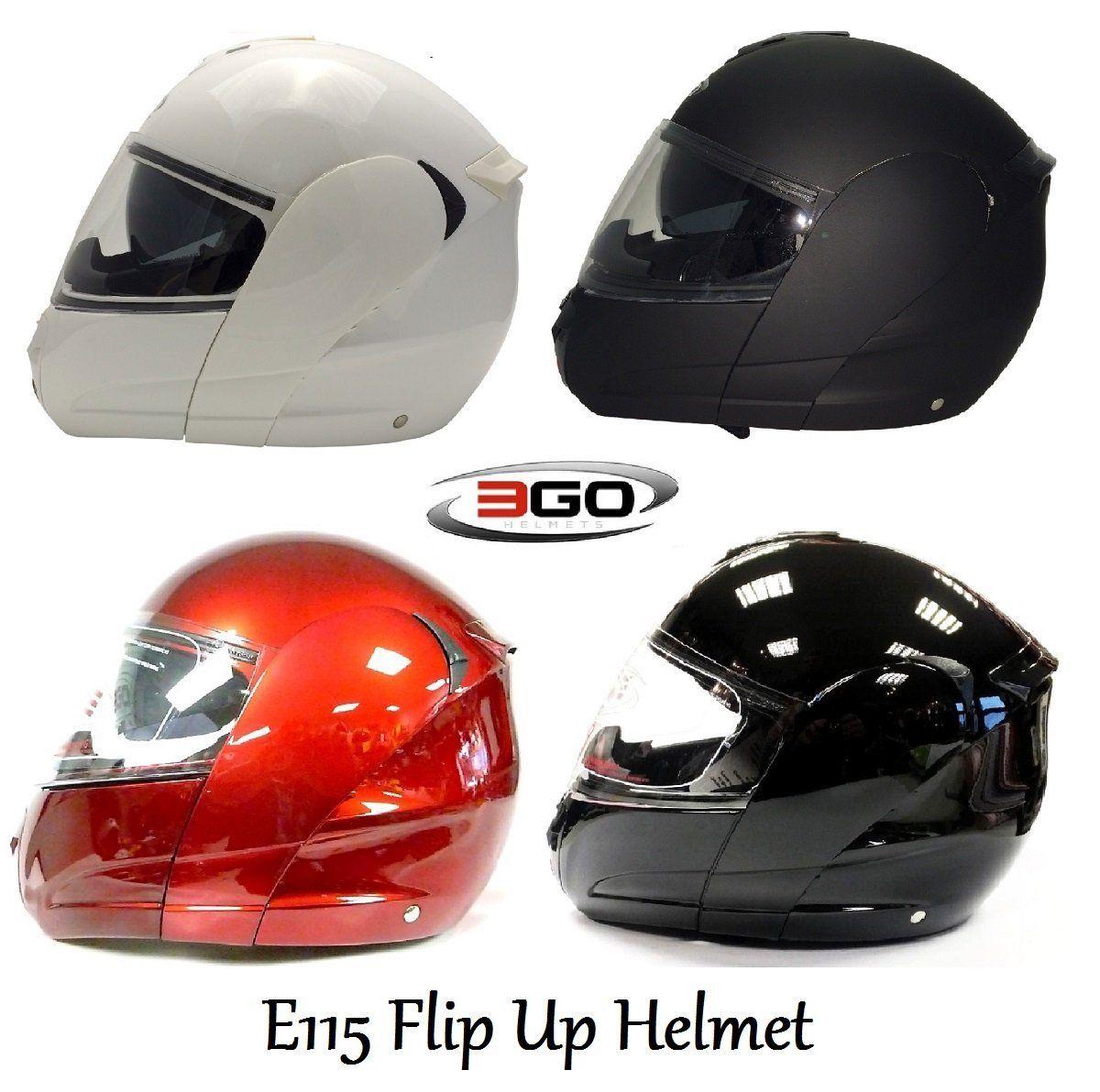 MOTORBIKE 3GO E115 FLIP UP FRONT DVS HELMET New Motorbike Scooter