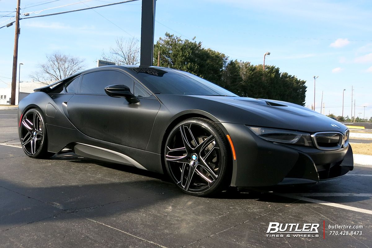 Bmw I8 With 22in Lexani Bavaria Wheels Exclusively From Butler Tires And Wheels In Atlanta Ga Bmw I8 Bmw Bmw S