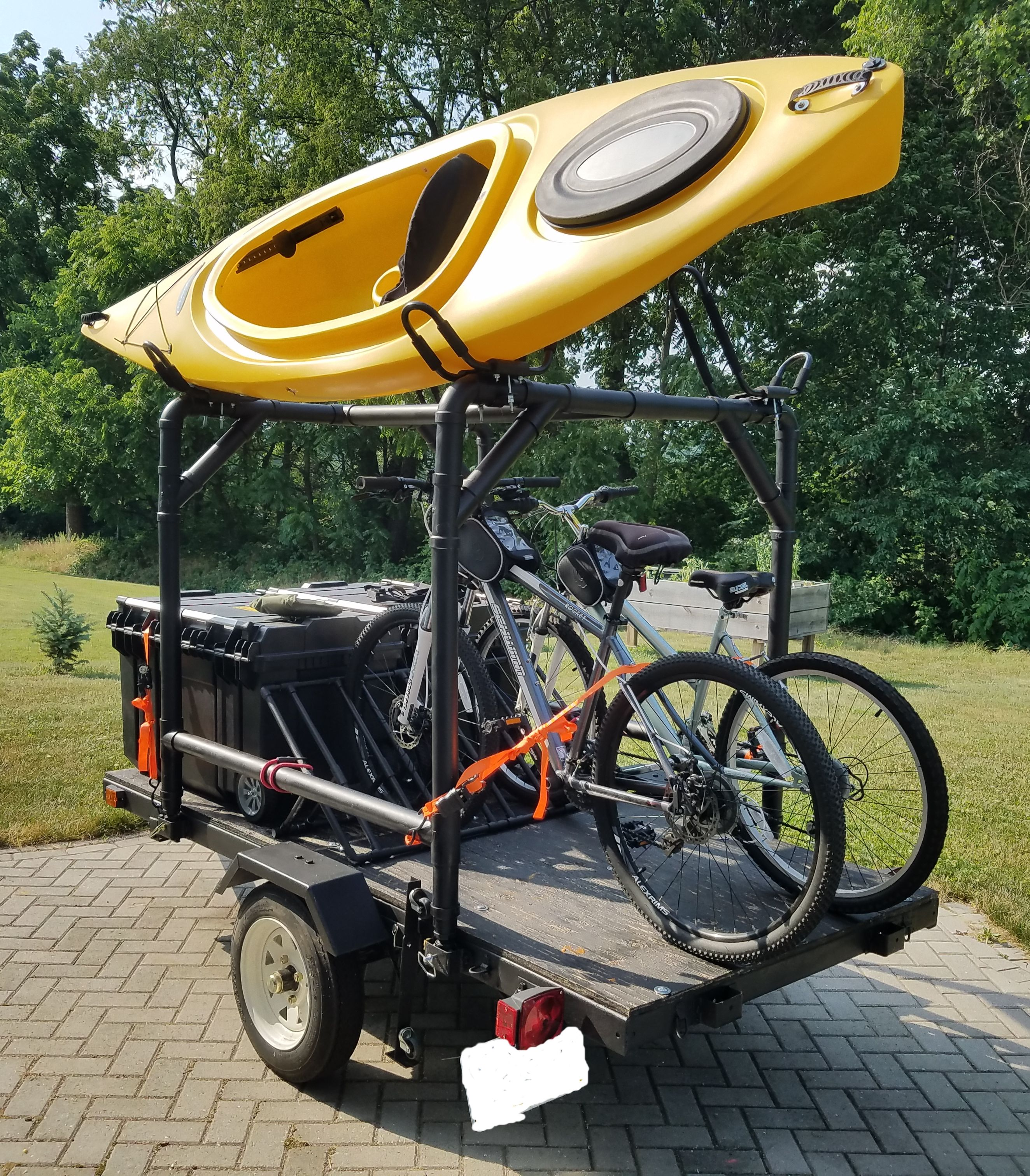 Photo of Harbor Freight Trailer MOD – Kayak, Camping and Bike Trailer