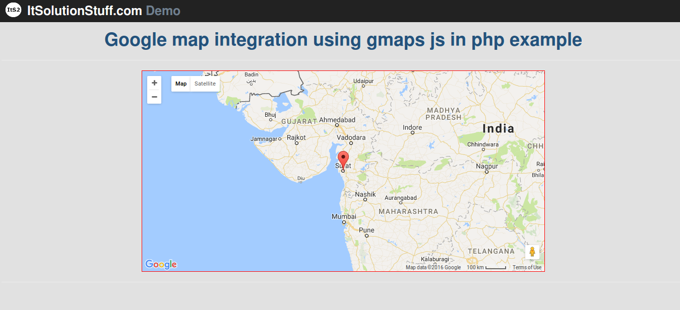 google map maker php, php google map example, add google map marker