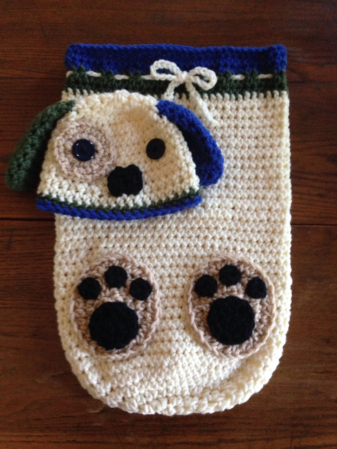 Crochet PATTERN - Puppy Dog Cocoon & Hat Set; Puppy Blanket Crochet ...