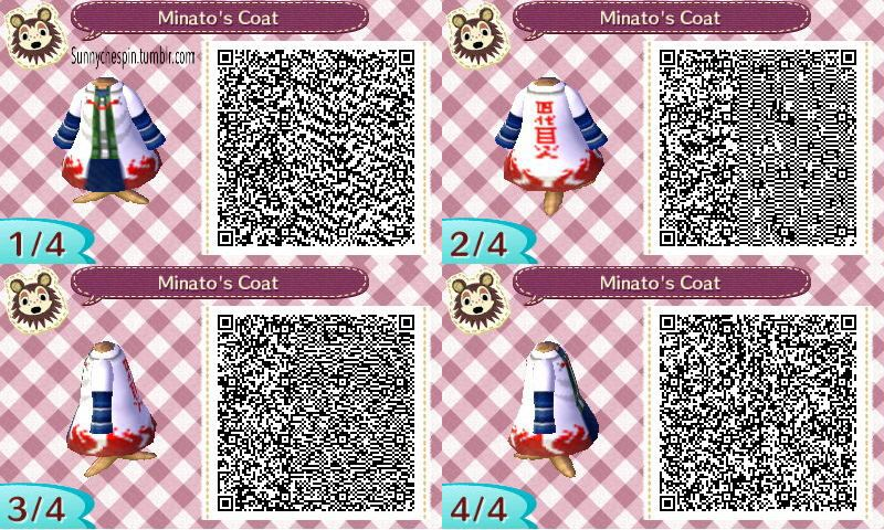 Hokage Cloak Naruto Animal Crossing Qr Qr Codes Animal