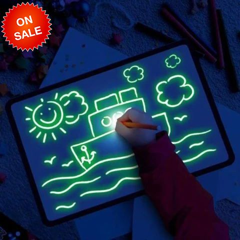 Fluorescent Early Education Writing Graffiti Board LED Handwriting Board(BUY 1 GET 2ND 10% OFF) #realisticeye
