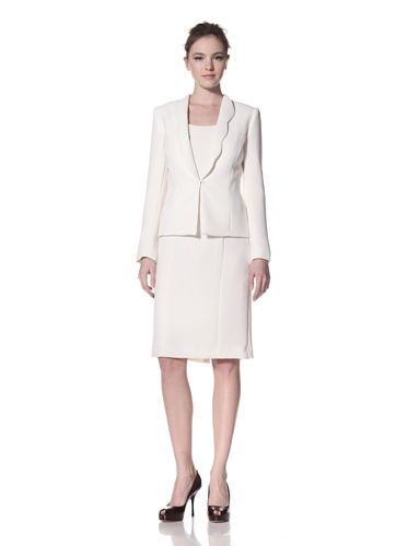 65% OFF Tahari by ASL Women\'s Suit with Scallop Lapel (Cloud)