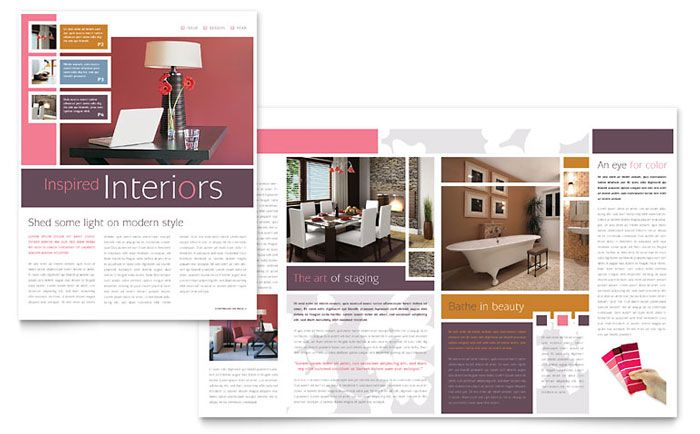 interior design brochure - omputer Solutions Newsletter Design emplate by StockLayouts ...