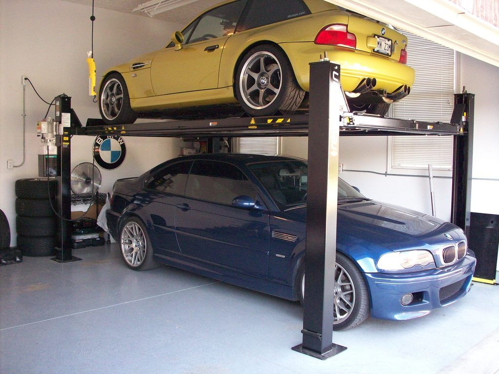 Garage Car Lift For Storage We So Need One Of These Lifts In Our Garage Storage Ideas