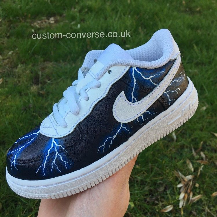 14068abddf9 Nike Air Force 1 Lightning Storm Custom Trainers in 2019 | Nike ...