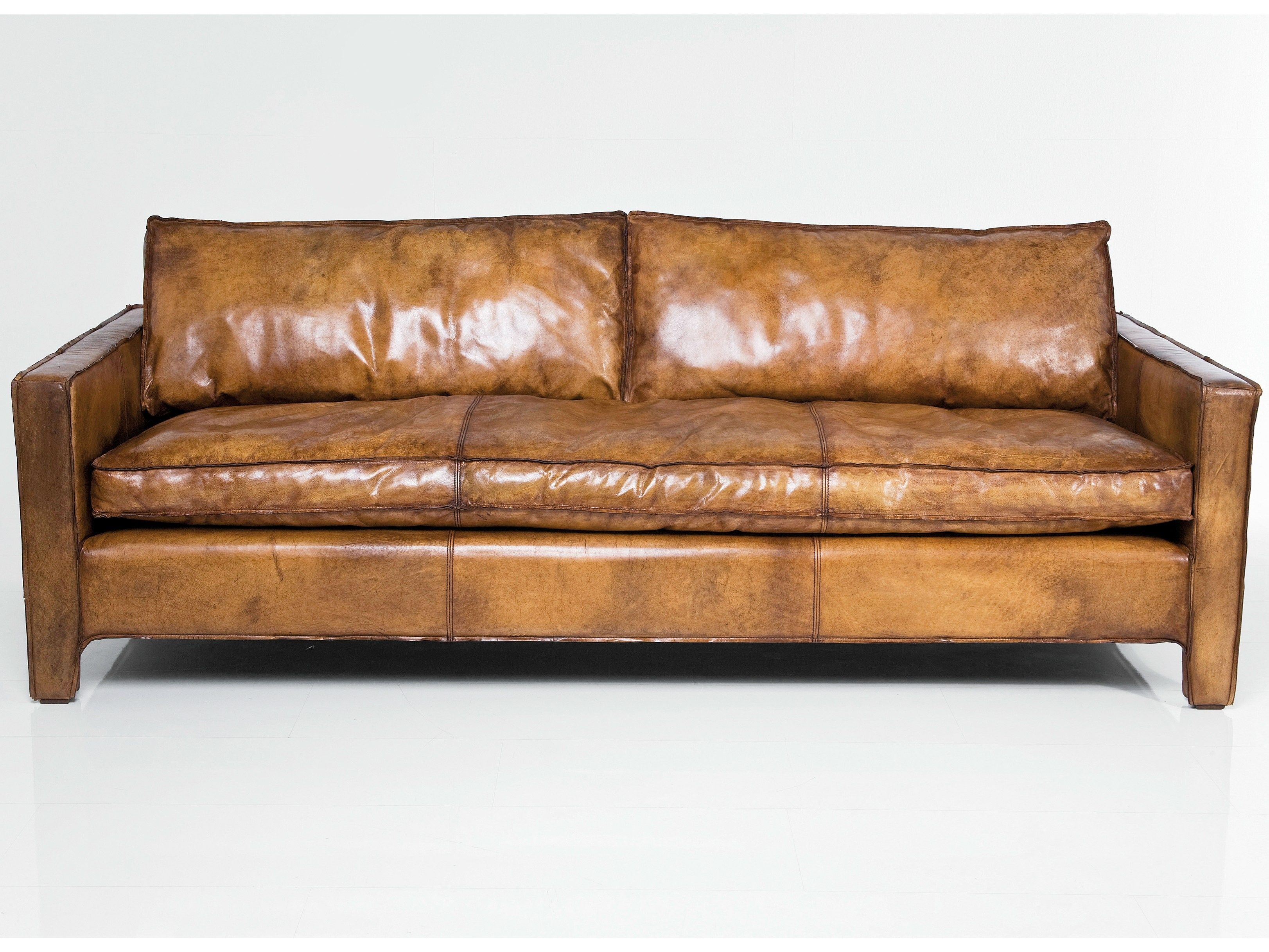 Comfy Brown Leather Sofas Italian