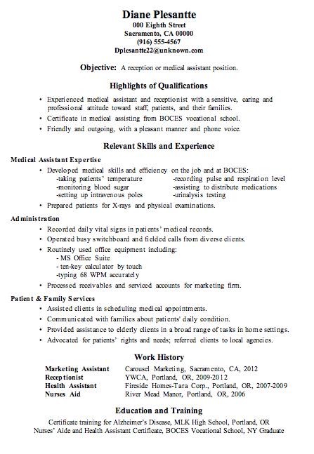 hotel secretary resume sample