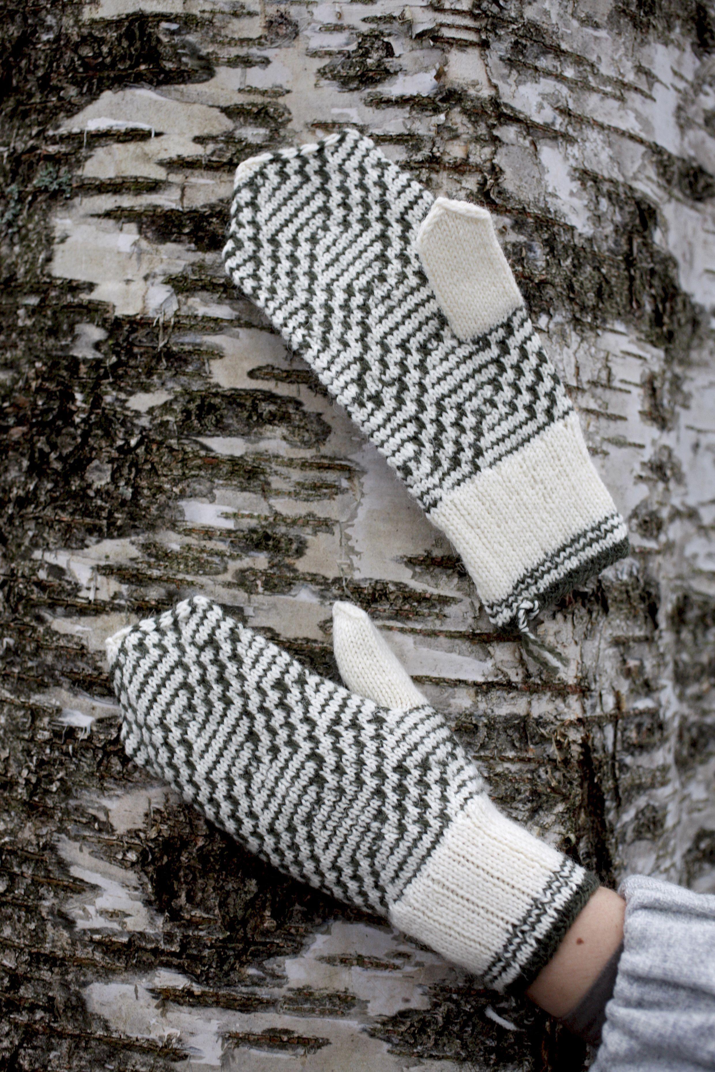 Kirjoneulelapaset nostetuilla silmukoilla Novita Nalle   Novita knits