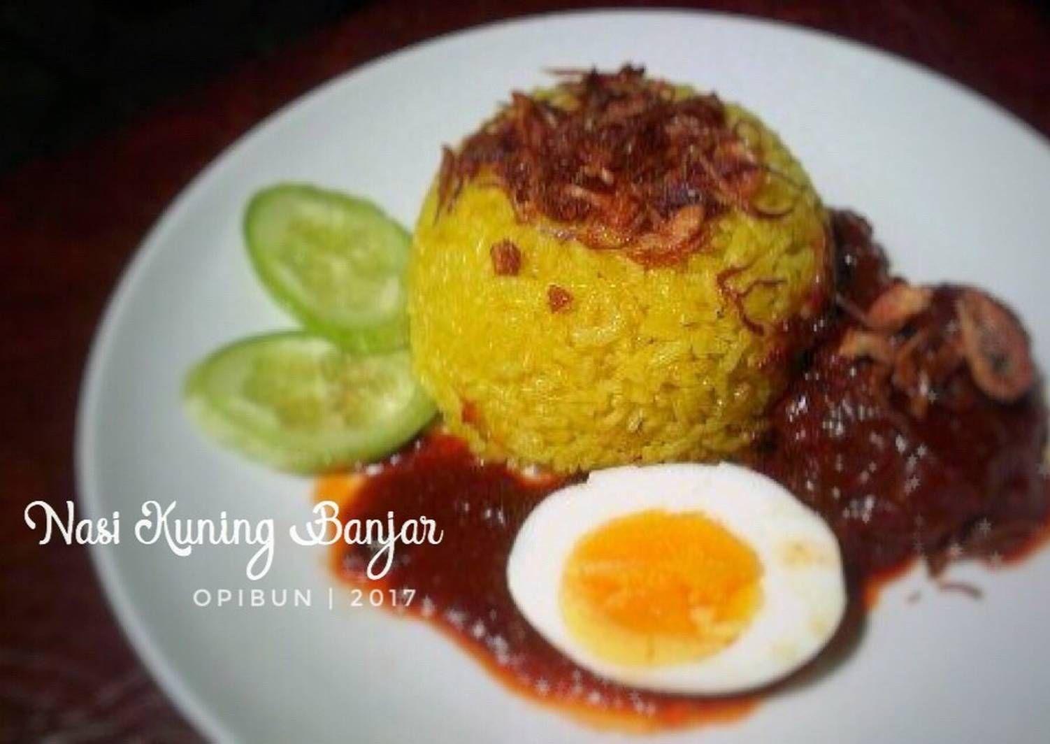 Resep Nasi Kuning Banjar Menu Sarapan 1 Oleh Opibun Resep Resep Masakan Indonesia Sarapan Resep Masakan
