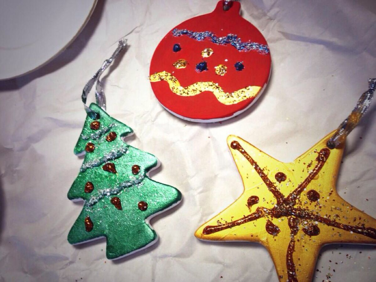 Pretty home made decorations by Rebekah Faubion and her 'little super hero' :) Pic by @rffaubion #holidaycheer