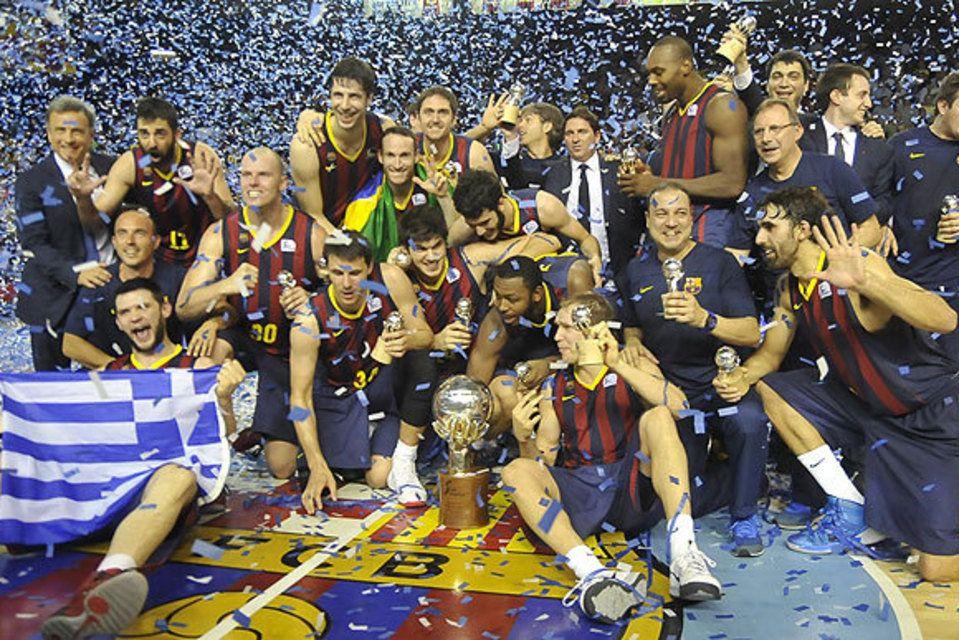 (83-81) El Barça sabe sufrir para triunfar, Campeones de la Liga ACB ENDESA.