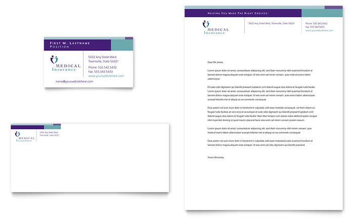Click to download a full-size preview PDF Visiting Cards - medical report template