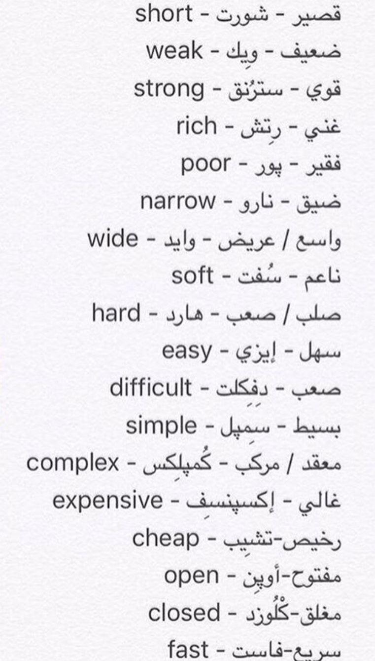 Learning Arabic Msa Fabienne Learn English Words English Words English Vocabulary Words