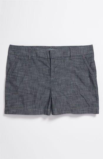 Chambray shorts.