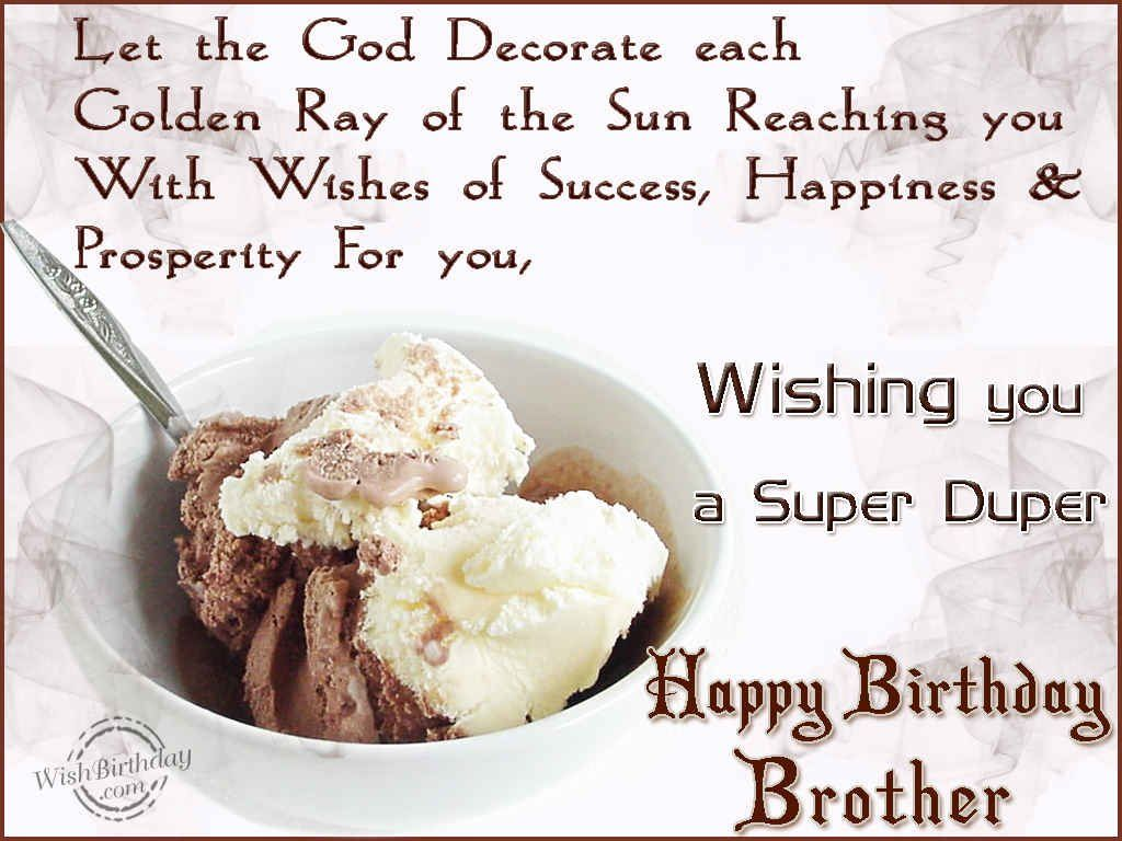 Happy Birthday Greetings Birthday Wishes For Brother Birthday