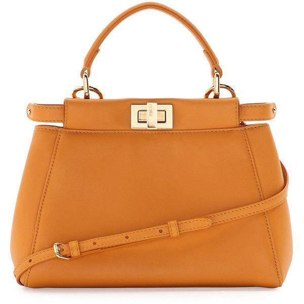 Fendi Peekaboo Micro Leather Satchel Bag (42.087.150 IDR) ❤ liked ...