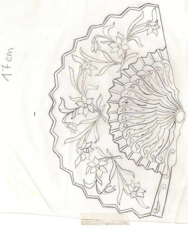Estano dibujos abanicos con decoupage fundas para abanicos - Como pintar abanicos ...