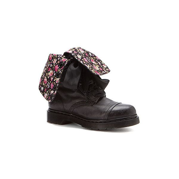 0ca0e56b2a1 Dr. Martens Triumph 1914 14 Eye Floral Print Boots ( 160) ❤ liked on  Polyvore featuring shoes