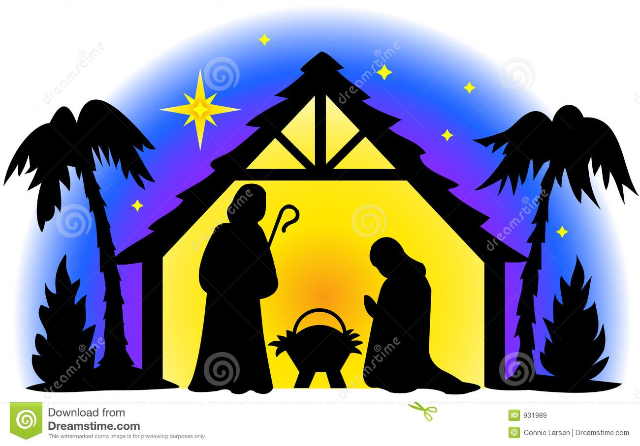Nativity Silhouette Clip Art | Nativity Silhouette Royalty Free ...