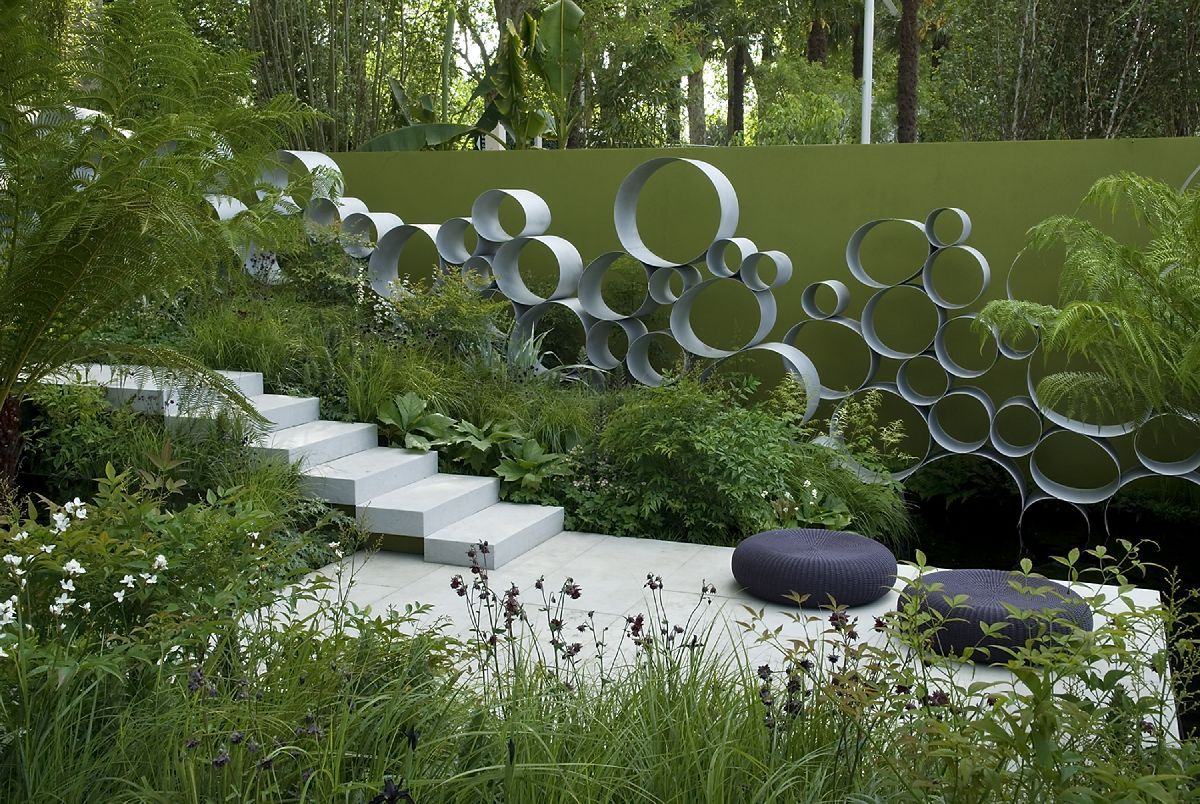 andy sturgeon landscape design / cancer research garden, rhs chelsea 2008