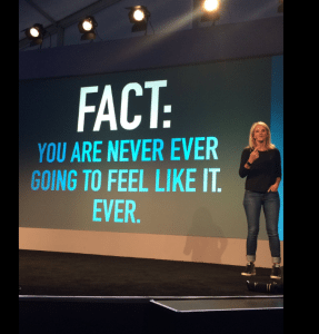 YOU'RE NEVER GOING TO FEEL LIKE IT | Mel robbins, Second best quotes, Motivation