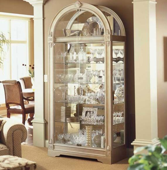 Curio cabinet decorating ideas modern curio cabinet - Display living room decorating ideas ...