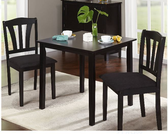 Small Kitchen Table Sets And 2 Chairs Dining Diner For 2 Mesmerizing 3 Piece Kitchen Table Set Inspiration Design