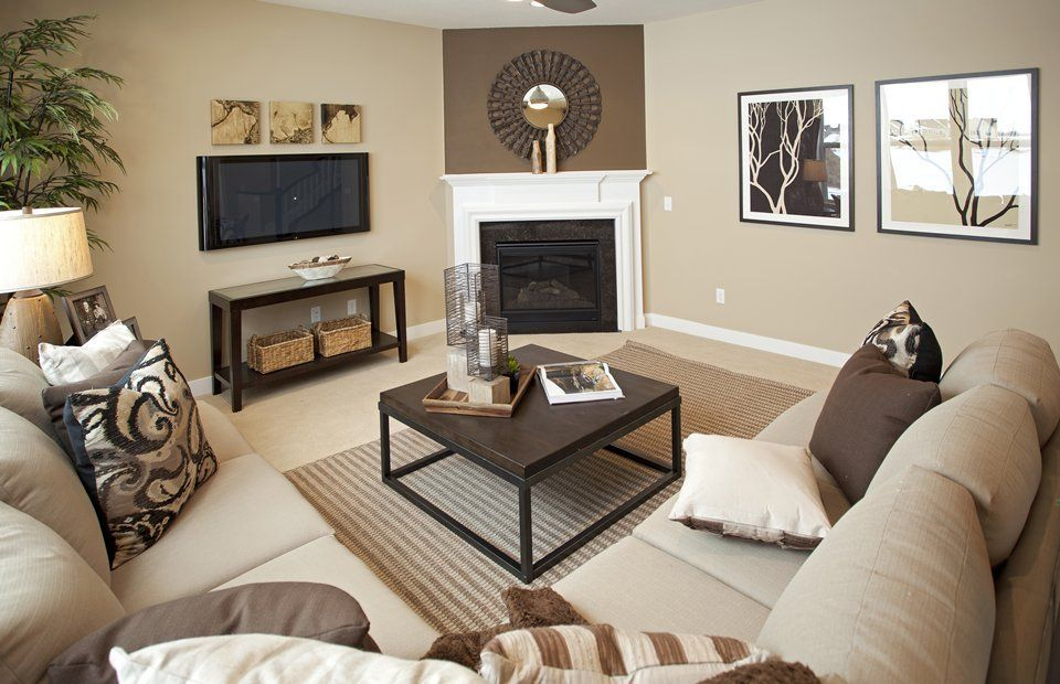 Transitional Living Room with Carpet, Ceiling fan, Townsend