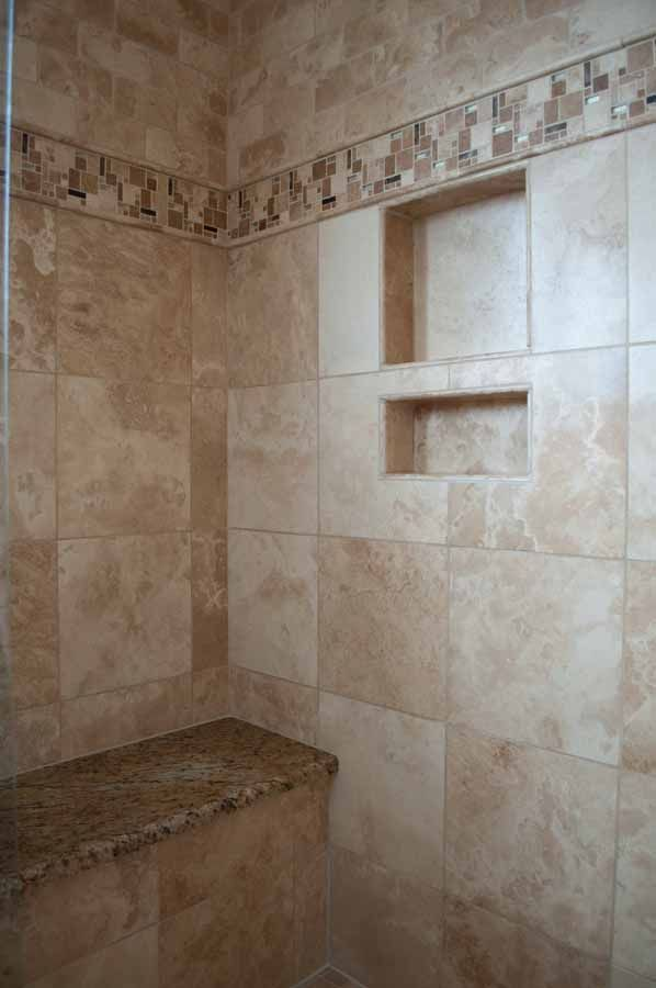 briargate bathroom remodel, colorado springs, travertine shower