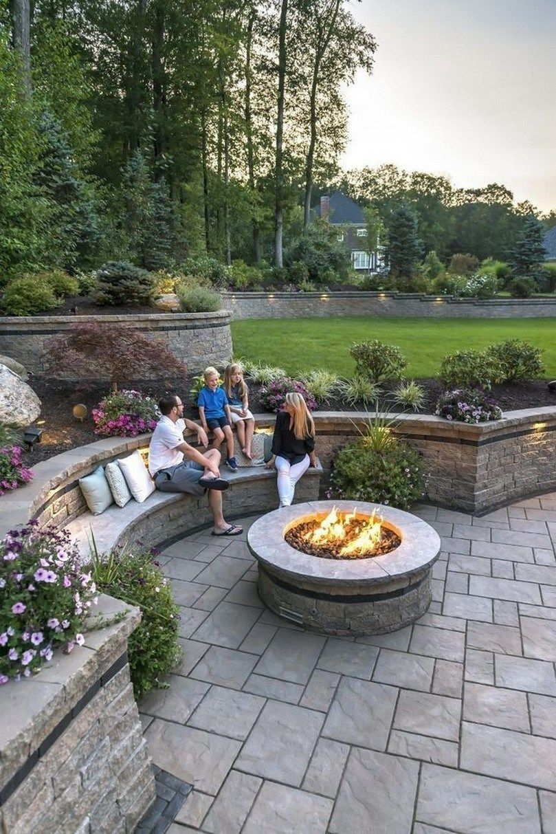 60 Small Paver Patio Ideas Pictures With Fire Pit Smallpaverpatio Paverpatioideas Small Patio Garden Design Patio Pavers Design Backyard Landscaping Designs