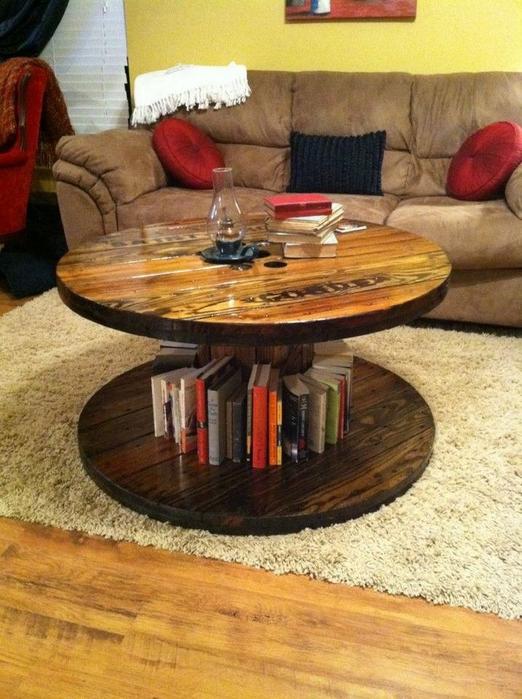 DIY Pallet Round Coffee Table Plans Coffee table plans