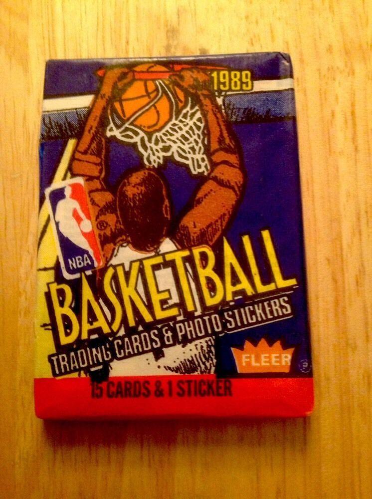 198990 fleer basketball unopened wax pack fresh from box