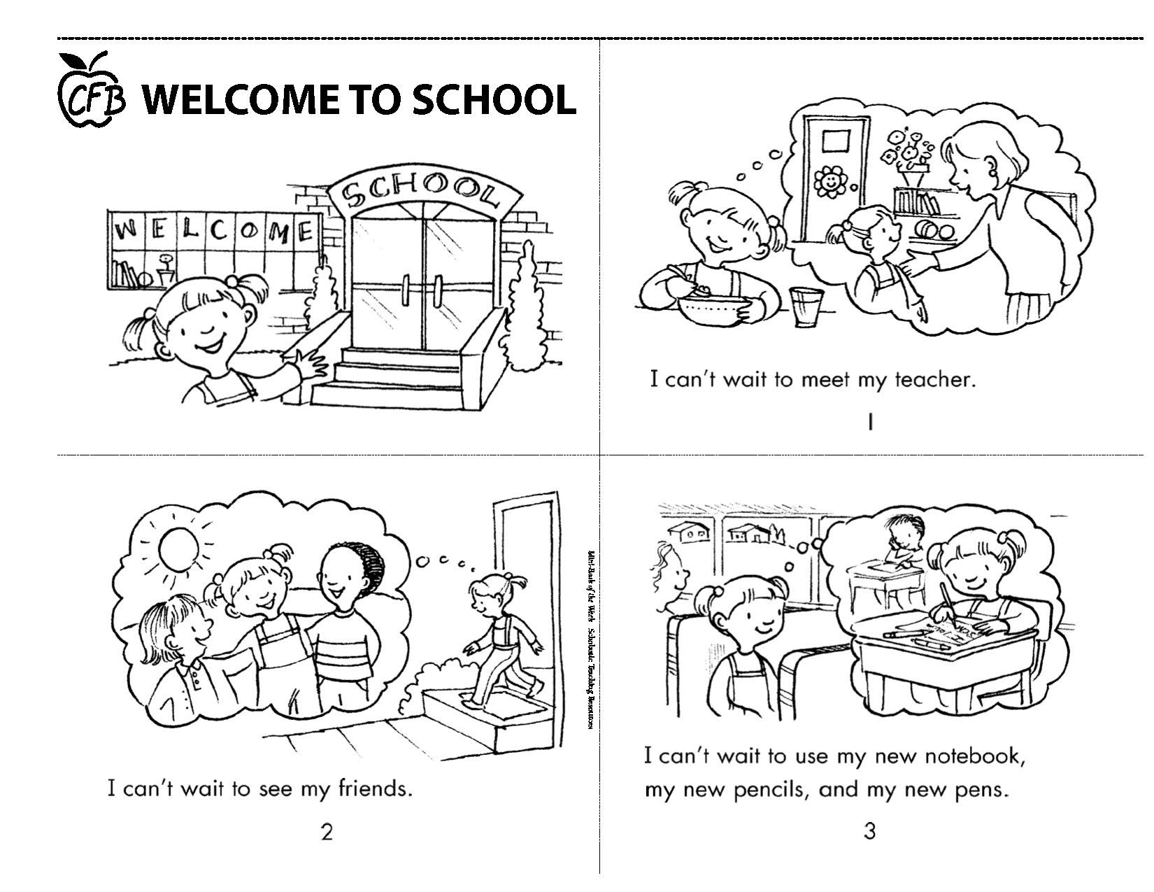 Welcome To School Printable Mini Book Homeschool