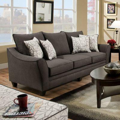 Chelsea Home Flannel Sofa Reviews Wayfair