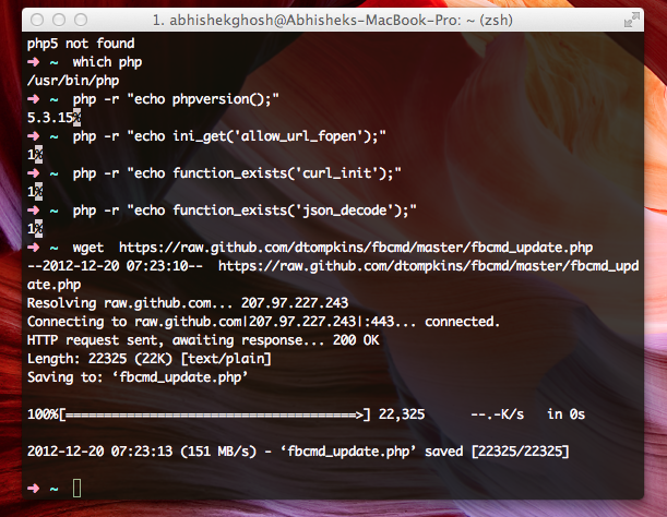 Using Facebook From Command Line Interface | Technology