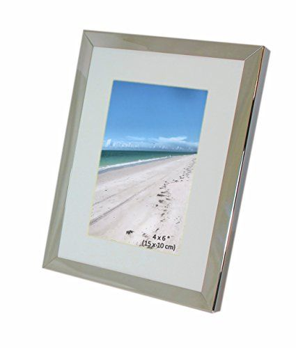 Iron Nickel Plated Shiny Dark Silver Color Photo Frame With Removable Mount Takes A Of 4 X 6 Inches 10 15 Cm Or 8 20cm