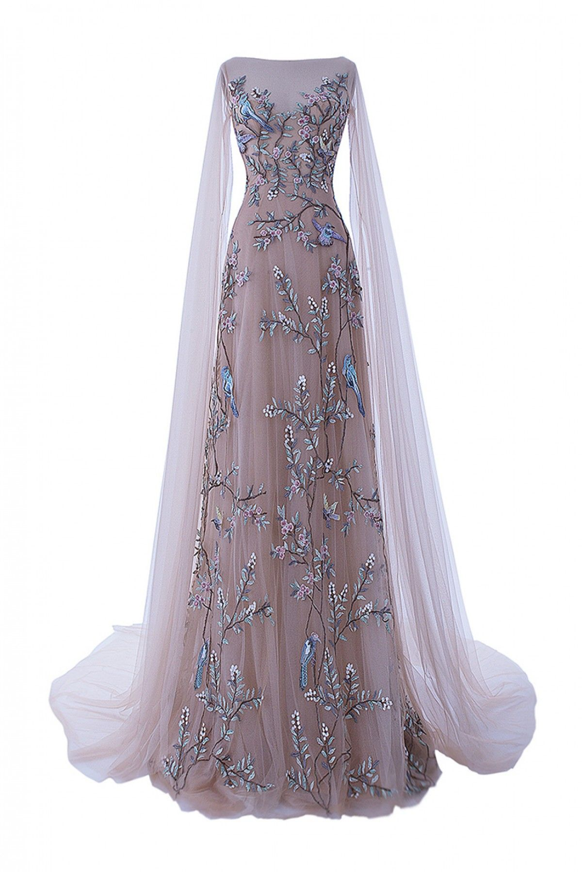 caaf830b3b345 Buy Youdesign Tulle Gown In Beige Colour for women @ ninecolours.com ...