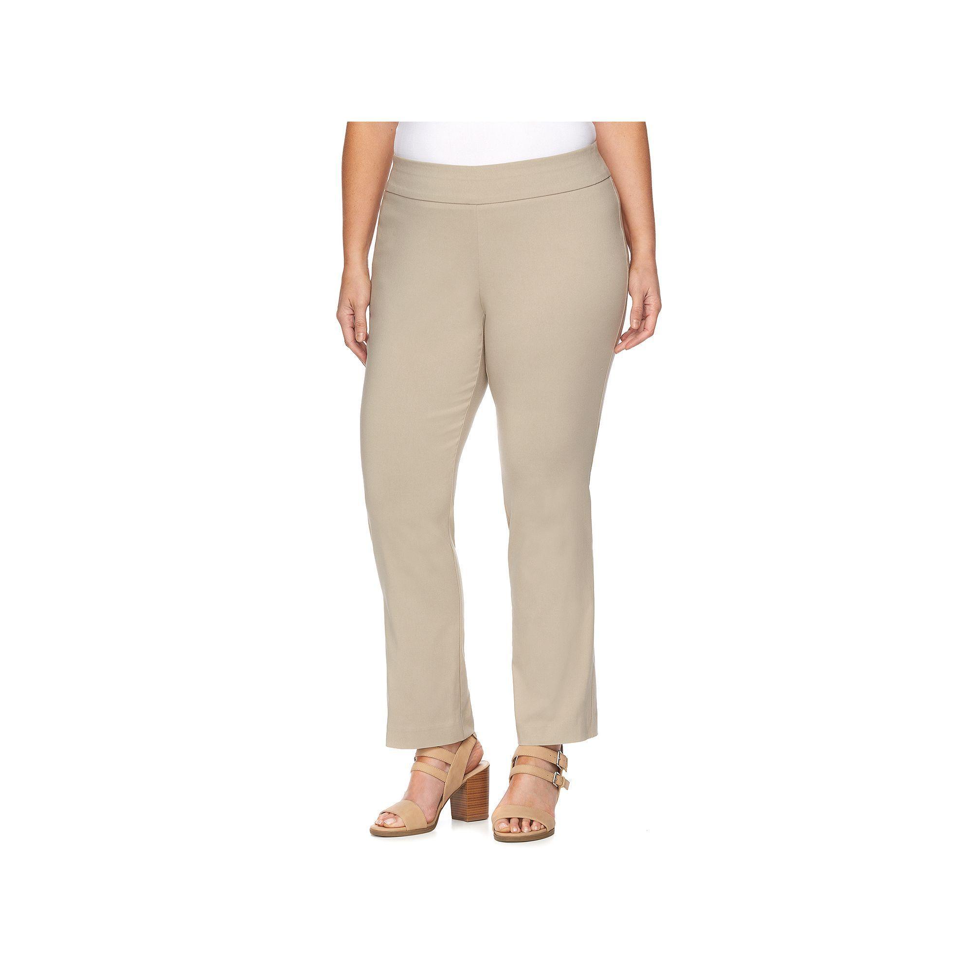 Dana buchman plus size slimming pullon pants dark brown dark and