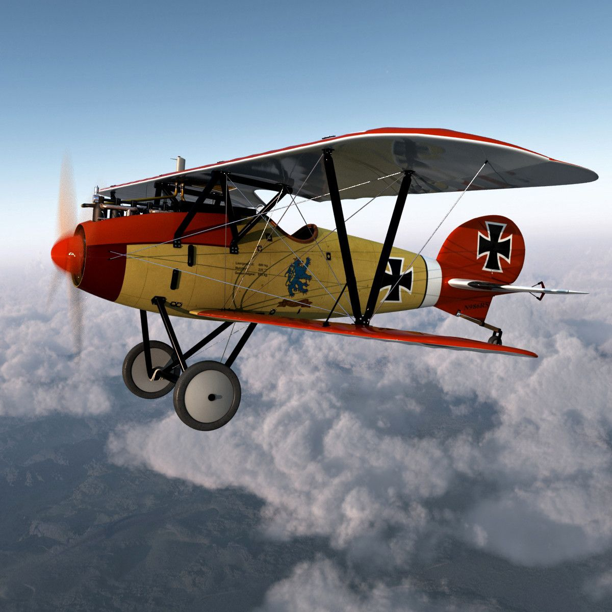 Biplane Fighter Aircraft Albatros D Iii With Images