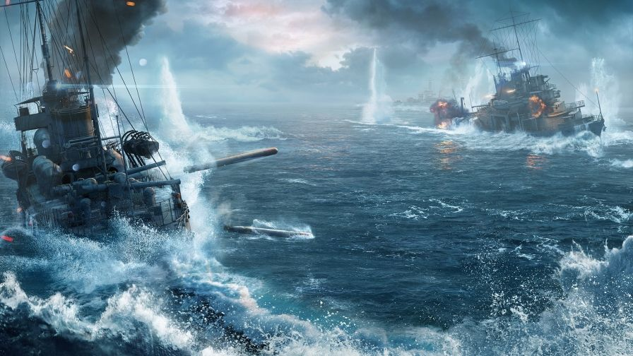 World Warships Battle Wallpaper Download Hd Collection With
