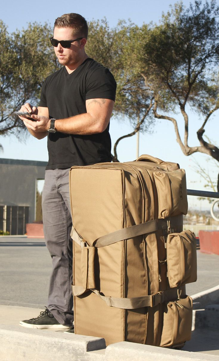 S O C Rolling Load Out Xl Coyote Brown Bug Bag Travel Backpack Tactical