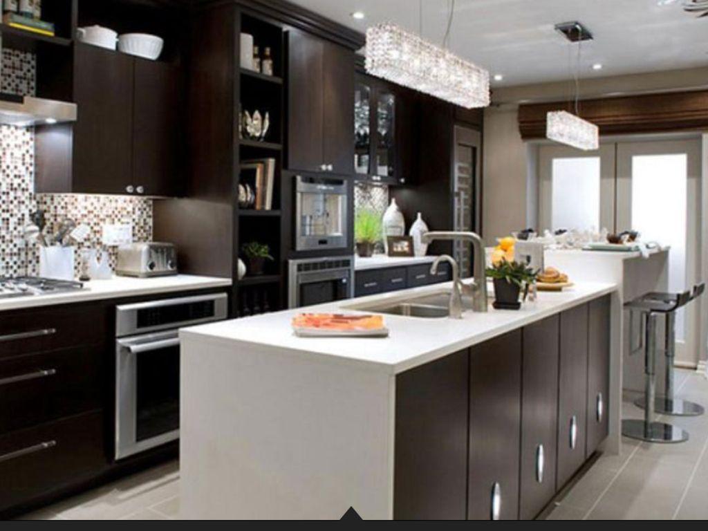 Cocina moderna en color wengue | Cocinas | Pinterest | Kitchen ...