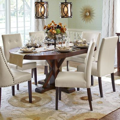 Mason Ivory Dining Chair With Espresso Wood  Dining Room Decor Gorgeous Ivory Dining Room Set 2018