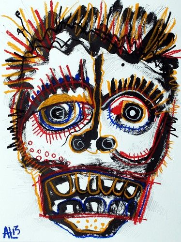 Original LABEDZKI Abstract Figurative Art Obnoxious Uncle 18x23 5 Inches | eBay